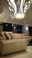 Canapé angle relax cuir pleine fleur de veau aniline taupe électrique KINGKOOL