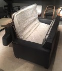 Canapé convertible Neuilly 2,5 places couchage quotidien cuir Patrol gris