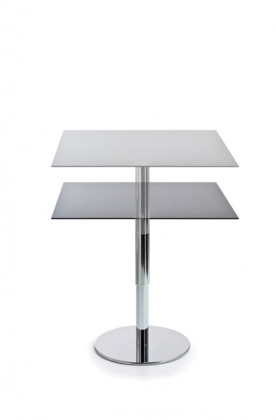 Table Mange Debout Reglable En Hauteur Incollection Carree 79 X 79 Cm