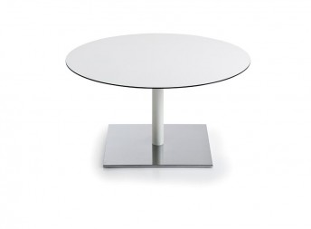Table basse INCOLLECTION, plateau rond ou carré en HPL