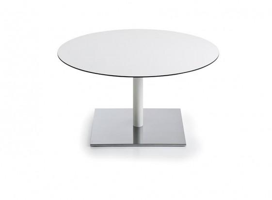 Table basse INCOLLECTION, plateau rond ou carré en HPL