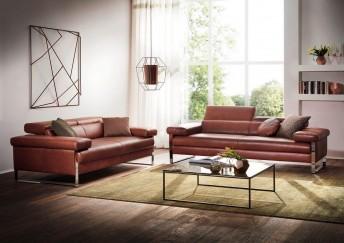 Canapé design 2 places DREAMLINE en cuir ou tissu