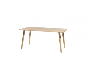 Table 4 pieds MALMÖ rectangle 170 x 90 cm en chêne ou en hêtre