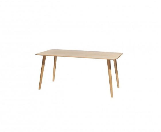 Table 4 pieds MALMÖ rectangle 170 x 90 cm en chêne