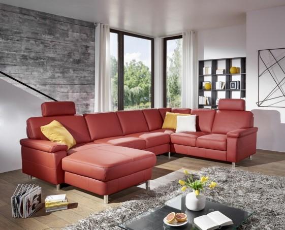 Grand canapé 6 places en U MARWIN.C cuir ou tissu