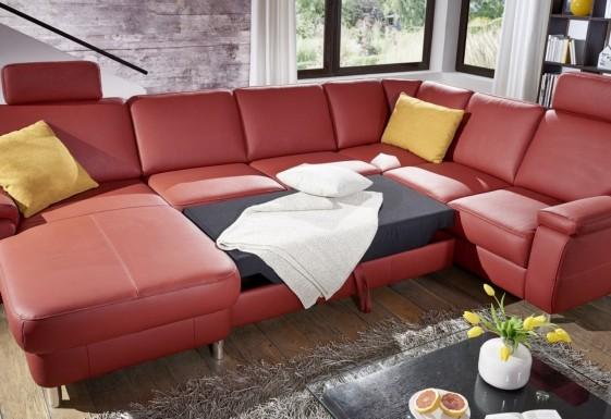 MARWIN.C grand canapé d'angle convertible 6 places en U