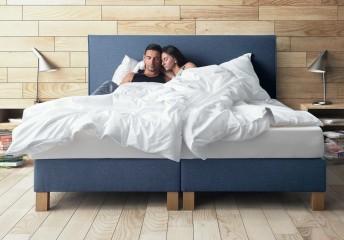 Lit complet SIMPLY tête de lit + sommier + matelas