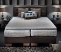 Lit complet 160 cm 100 % biologique matelas Masterpiece VitalWOOD + sommier + tête de lit