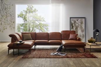 ADORATION.CM, grand canapé en U contemporain cuir ou tissu