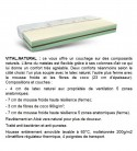 Matelas bio VITAL.NATURAL multizones, 160x200 cm + sommier ERGO.BOX