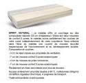 Matelas bio double conforts avec mousse recyclée SPIRIT.NATURAL multizones, 160 x 200 cm + sommier ERGO.BOX