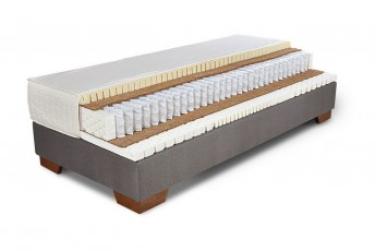 Matelas en latex 100% naturel et ressorts ensachés multi-zones NATURAL.CONFORT et sommier ERGO.BOX