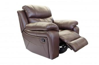 KLASSIKRELAX fauteuil manuel dossier et accoudoirs matelassés, cuir ou tissu