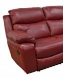 Canapé 2 places KLASSIKRELAX manuel dossiers hauts, cuir ou tissu