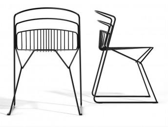 RIBELLE LUXY chaises extérieur en métal design, lot de 6