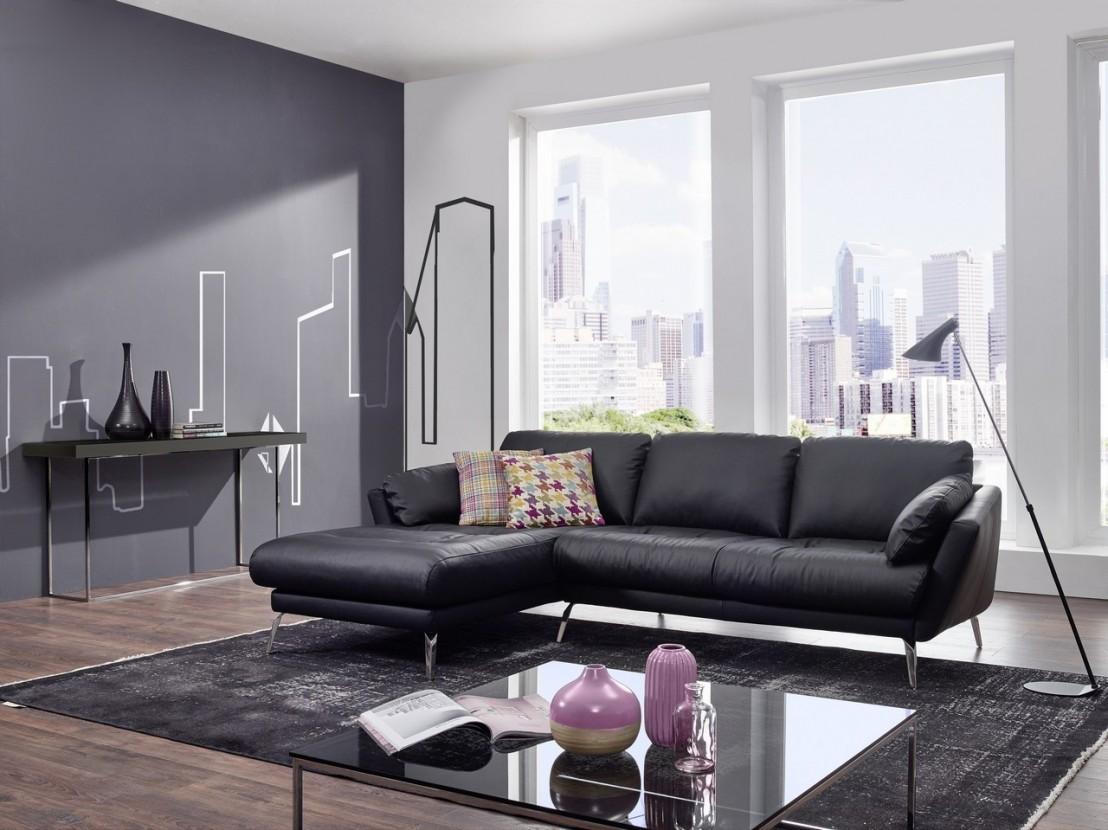 petit canap d 39 angle avec chaise longue confort souple am melvin. Black Bedroom Furniture Sets. Home Design Ideas