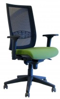 Fauteuil de travail OFFICE 305 dossier moyen en maille assise cuir ou tissu