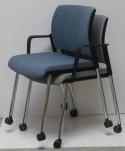 OFFICE 705 chaise de réunion, conférence ou bureau avec accoudoirs et roulettes