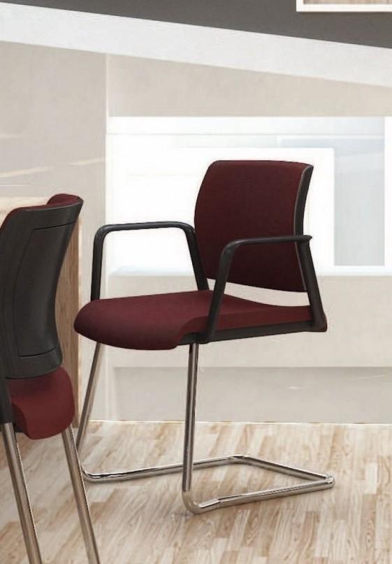 Chaise de bureau OFFICE 605 avec accoudoirs pied luge