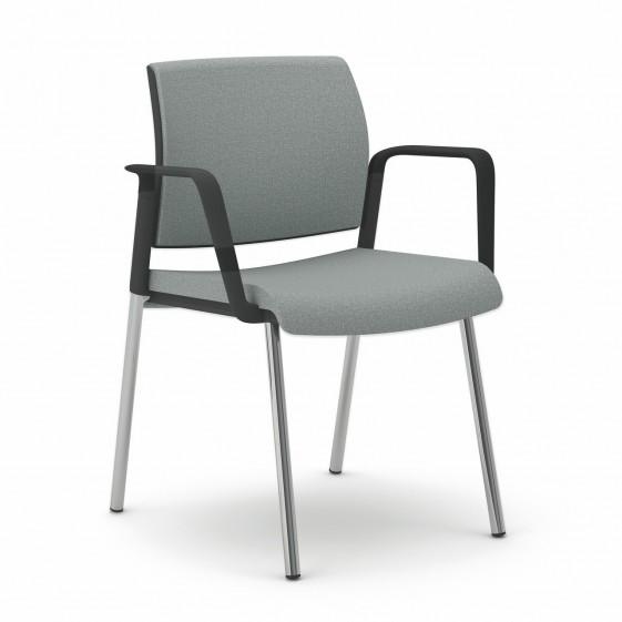 OFFICE 505 chaise de bureau avec accoudoirs 4 pieds