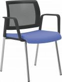 OFFICE 555 chaise de bureau avec accoudoirs, dossier maille