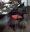 Chaise de bureau OFFICE 755 avec accoudoirs & roulettes
