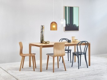 Ensemble SEXY-SPRING-MIX TON, table rectangle LEAF et chaises MALMÖ & 18