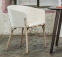 Ensemble SEXY-SUMMER-MIX21 TON, LÉVY & RIABIC, table rectangle 90x200 cm MALMO, trois chaises SPLIT, 1 fauteuil SPLIT