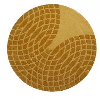 Tapis VERPAN Verner Panton laine rond jaune