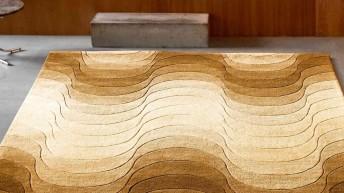 Tapis VERPAN WAVE Verner Panton 240x170 cm pure laine vierge