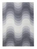 Tapis WAVE gris VERPAN laine de Verner Panton