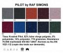 Fauteuil Lounger bas Verpan tissu Kvadrat PILOT 792 bleu nuit Raf SIMONS