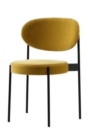 Lot de 2 chaises SERIE 430 en tissus Kvadrat Raf SIMONS Harald 3, design Verner PANTON