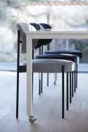 Lot de 2 chaises SERIES 430 en tissu Kvadrat Raf SIMONS Harald 3, design Verner PANTON