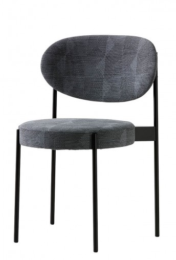 Verner PANTON, lot de 2 chaises SERIES 430 en tissus Kvadrat Crystal Field