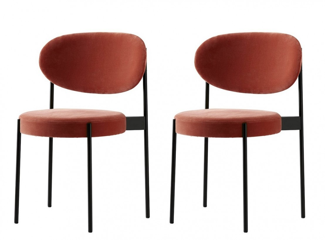 lot de 2 chaises series 430 en tissu kvadrat raf simons harald. Black Bedroom Furniture Sets. Home Design Ideas