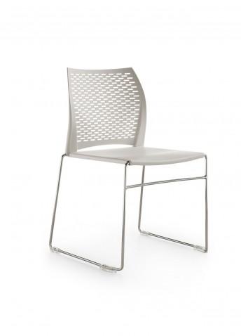 MEETING 100: 6 chaises de réunion coque polypropylène, lot de 6 empilables