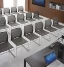 Chaise de réunion MEETING 100 avec tablette anti-panique, lot de 6