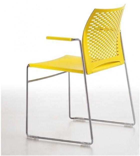 Chaise de réunion MEETING 105 avec accoudoirs, lot de 6