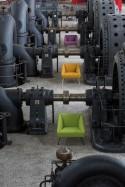 AMARCORD fauteuil cuir ou tissu design de LUXY