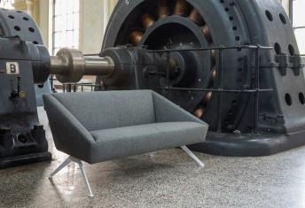 AMARDCORD canapé 2 places design en tissu LUXY