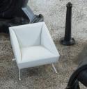 Salon d'accueil AMARCORD 1 canapé 3 places + 2 fauteuils LUXY cuir teinte au choix