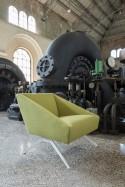 Ensemble canapé 3 places + fauteuil AMARCORD LUXY tissu teinte au choix
