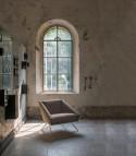 Petit canapé et fauteuil d'accueil AMARCORD design tissu LUXY