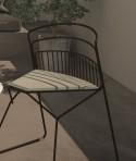 RIBELLE LUXY chaises intérieur/extérieur en métal design, lot de 6