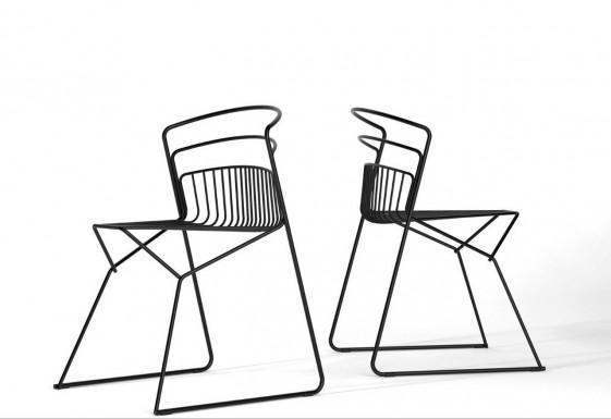 Chaises RIBELLE métal intérieur, lot de 2, LUXY