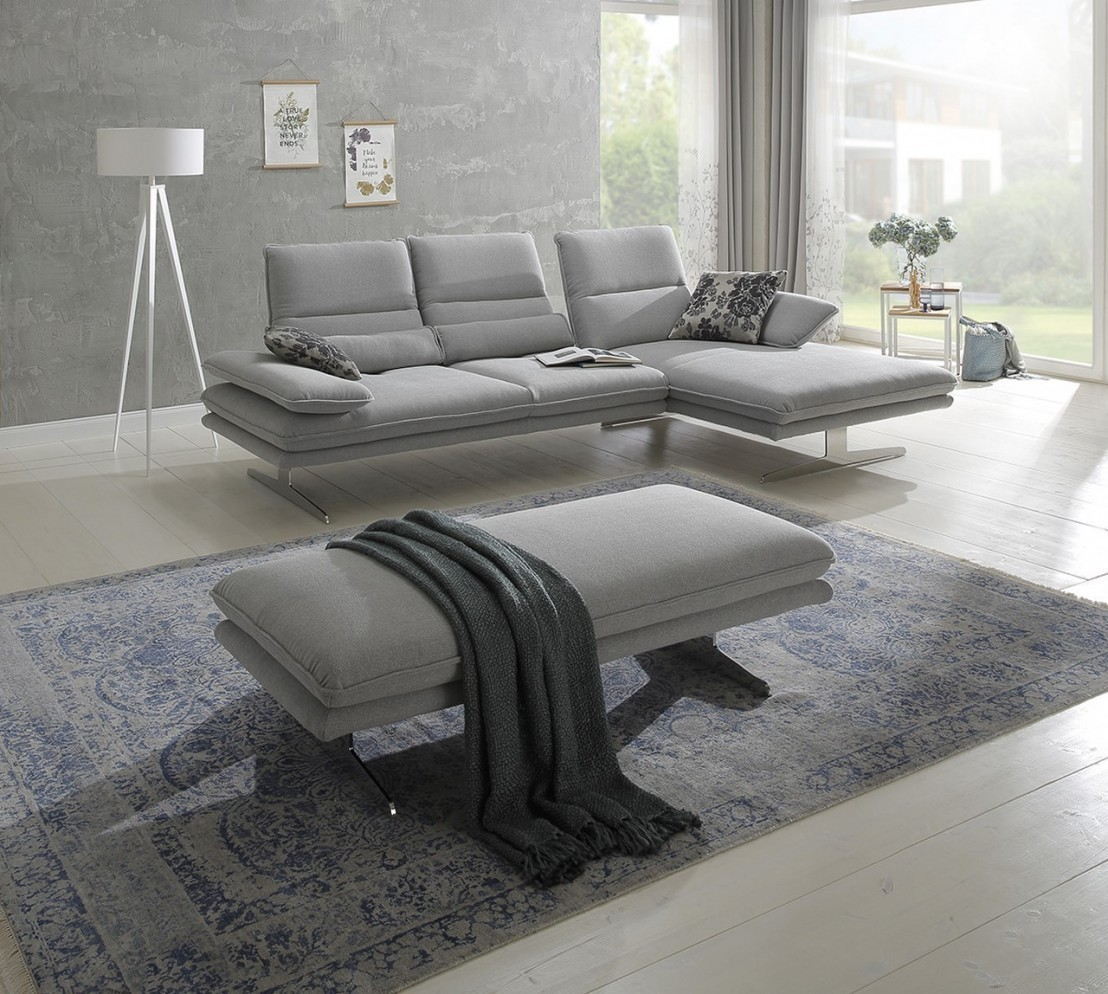 Canapé Multi Couleur se rapportant à canapé d'angle alwin.c 3,5 places chaise longue, assises réglables