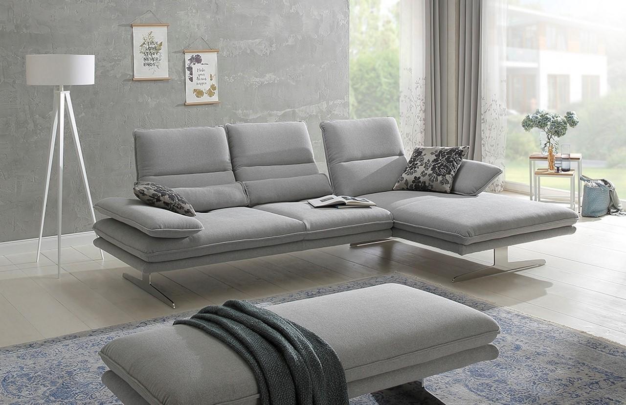 Canapé Multi Couleur dedans canapé d'angle alwin.c 3,5 places chaise longue, assises réglables