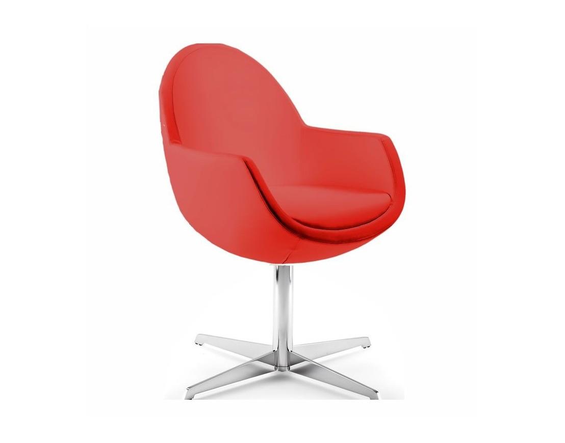 petit fauteuil de bureau rond pivotant en cuir syd. Black Bedroom Furniture Sets. Home Design Ideas