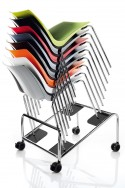 Trolley de rangement pour chaise de réunion SALLY empilables